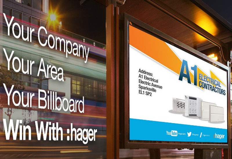 Hager Invites Electrical Companies to Win a Billboard Ad