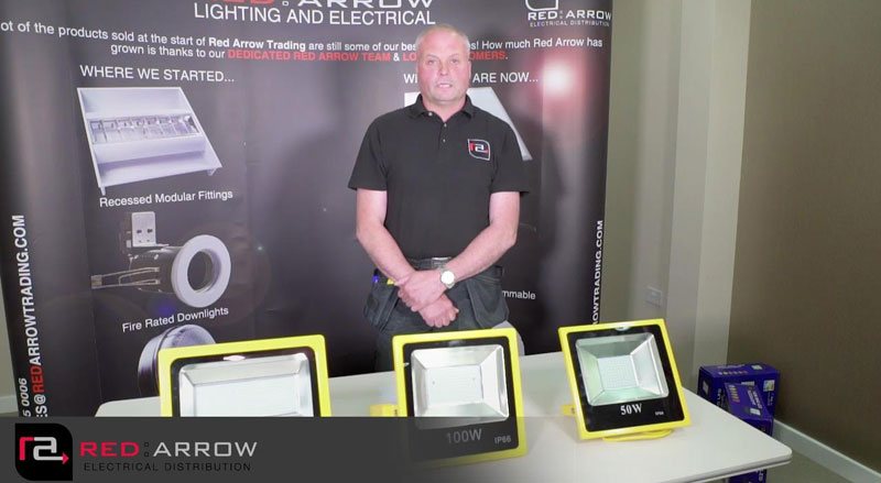 Watch: Red Arrow SMD LED Site Floodlights