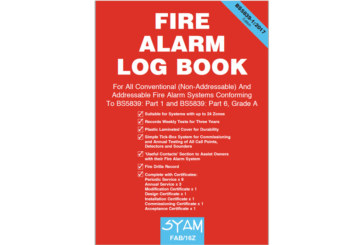Updated Fire Alarm Log Book from SYAM
