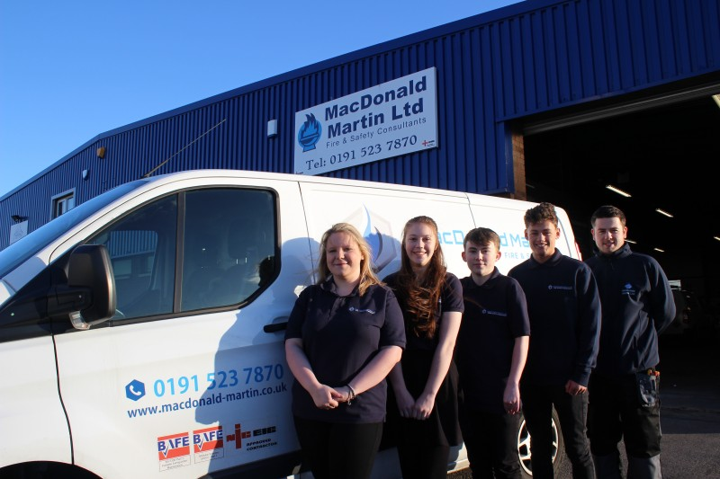 MacDonald Martin Apprentices All Fired Up!