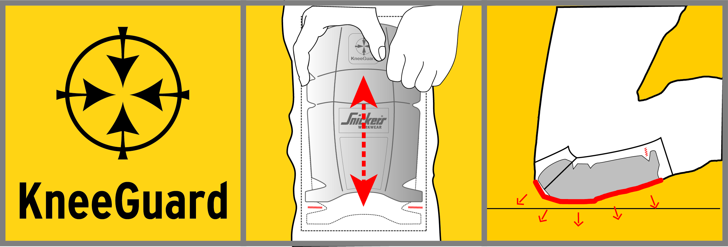 Snickers Workwear – superior, ergonomic knee protection with KneeGuard PRO