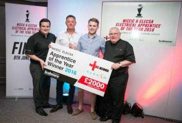 NICEIC & ELECSA Crowns First Apprentice Winner