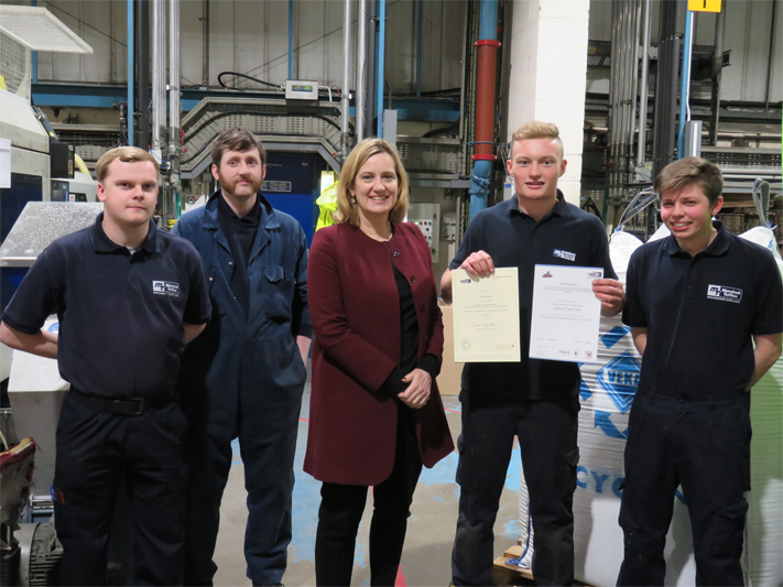 Apprentice Receives Award from Former Home Secretary