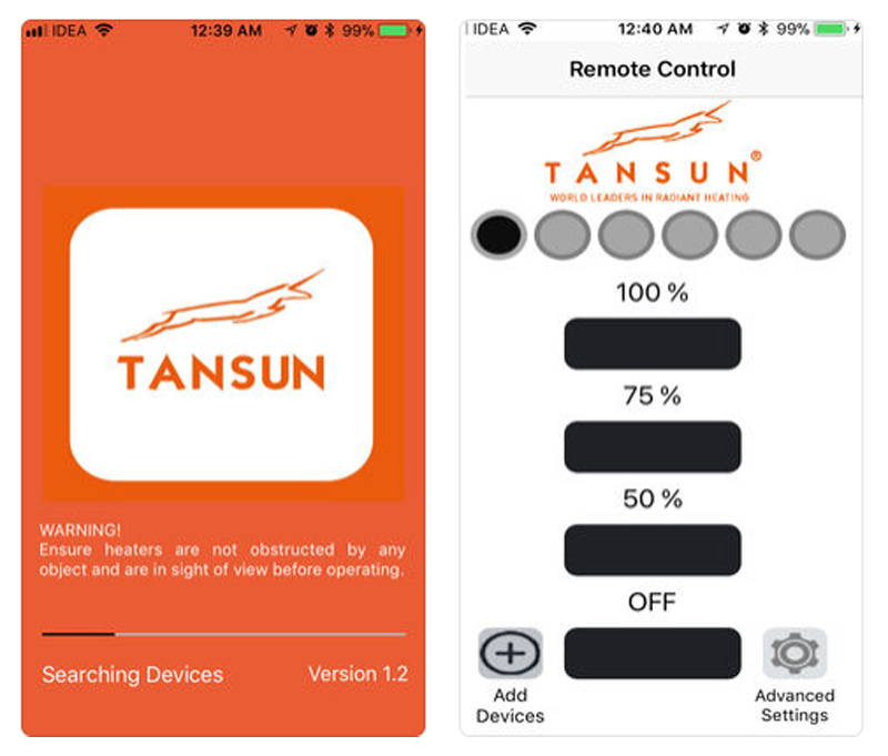Tansun Launches New App to Control Infrared Heaters