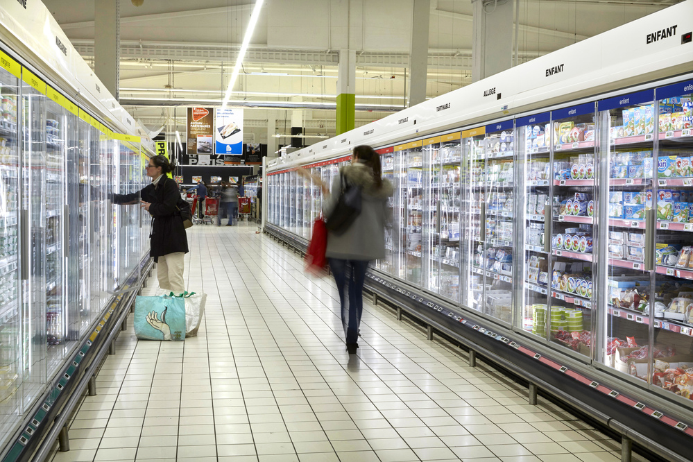 LED and Glass Doors Equal Higher Energy Savings and Create Visual Impact for Auchan