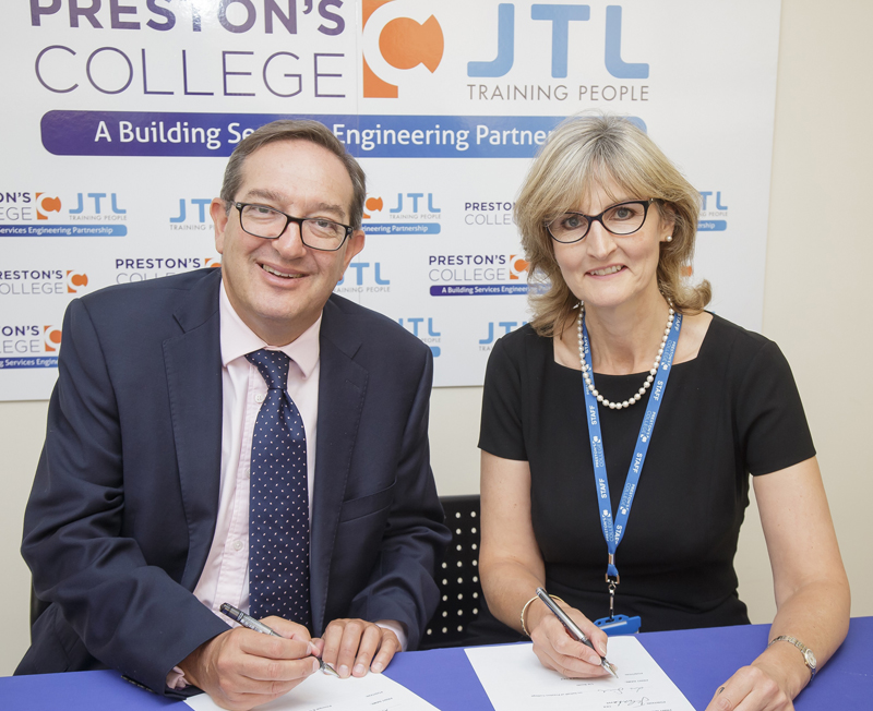 Preston's College and JTL Announce Partnership Agreement