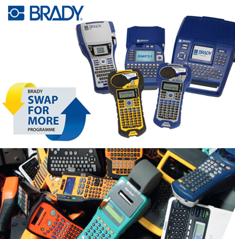 Brady Launches Print-Swap Offer