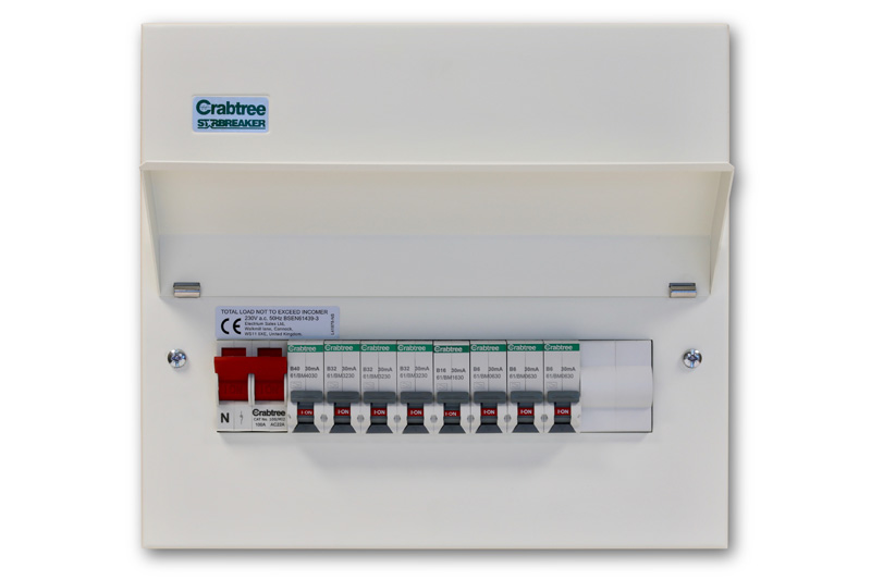 Crabtree's miniature RCBO spells safety in the Home and Garden