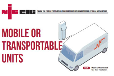 Mobile Or Transportable Units: Key Requirements