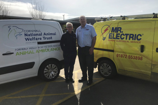 Mr. Electric Connects Cornish Animal Rescue