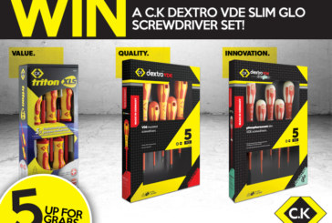 C.K Dextro VDE Slim Glo Screwdriver Sets To Be Won!