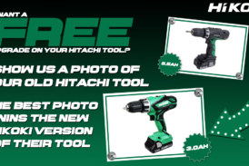 WIN a new version of your old Hitachi tool with Hikoki PowerTools!