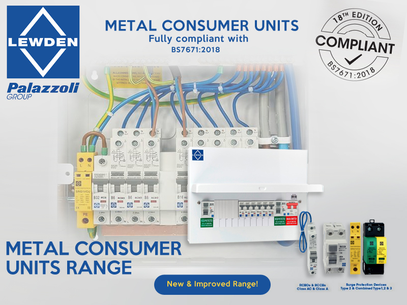 New 18th edition compliant range of products from Lewden
