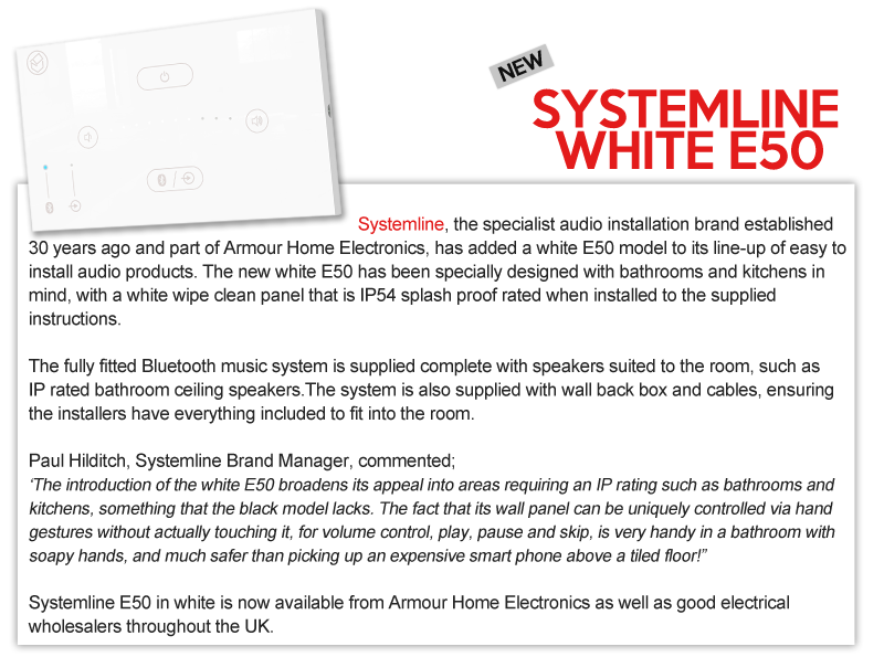 New systemline white e50 product
