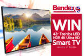 Win A 4K Ultra HD Smart TV With Bendex!
