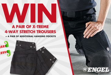 WIN a pair of X-Treme 4-Way Stretch Trousers by Engel Workwear