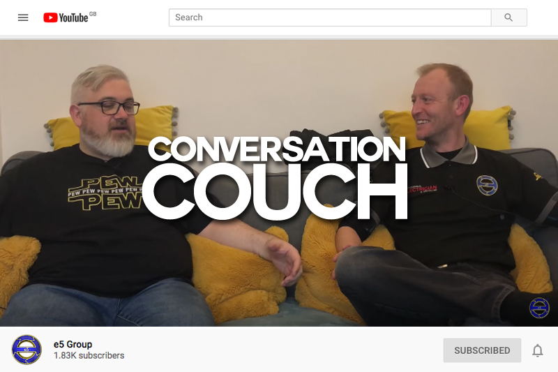 e5 Group 'Conversation Couch' with PE Editor, Richard Bowler