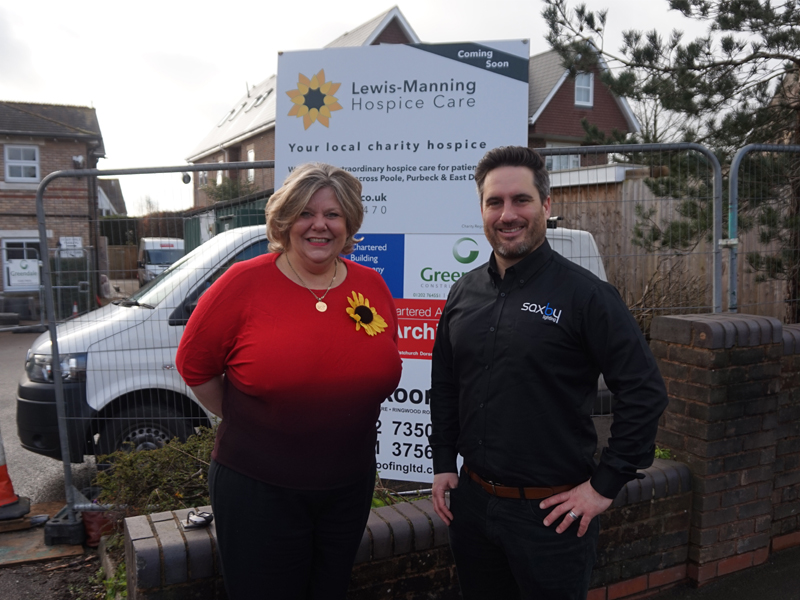 Saxby Lighting bring light to local charity hospice