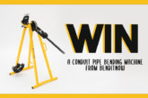 WIN! A conduit pipe bending machine from Benditnow