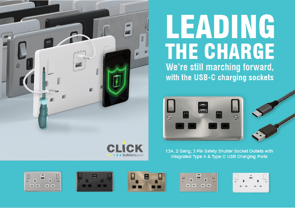 Scolmore's Type C USB sockets available in all ranges