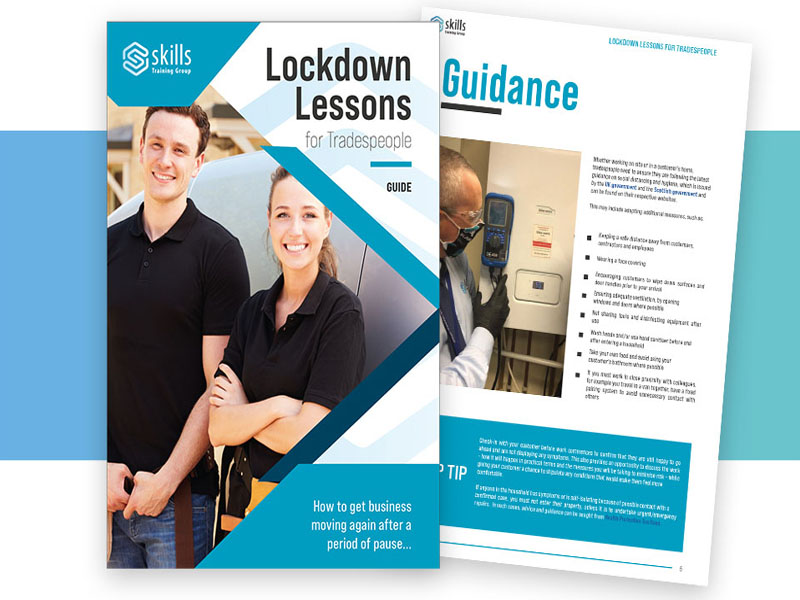 Skills Training Group launches free guide 'Lockdown Lessons for Tradespeople'