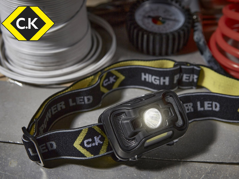 WIN! 5 x C.K Tools rechargeable head torches to be bagged