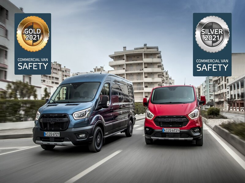 Ford Transit and Transit Custom Both Excel in Euro NCAP's First Evaluation of Active Safety Systems Fitted to Vans