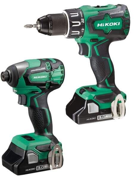 HiKOKI Power Tools UK popular brushless twin pack kits now available with 36V Multi Volt batteries