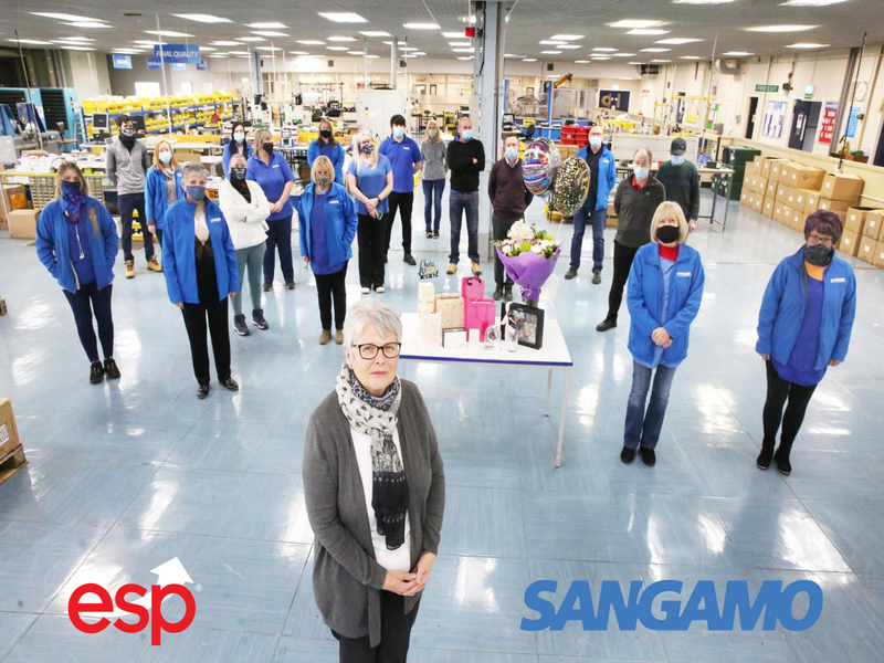Golden girl, Helen, calls time after 50 years' service with Sangamo