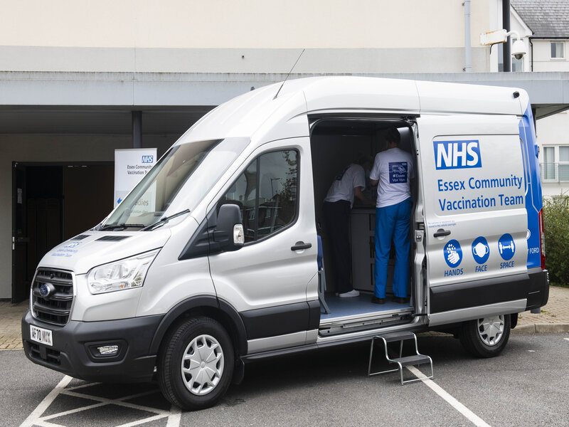 NHS and Ford pilot bespoke Transit van to deliver COVID-19 vaccinations to all communities