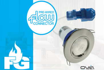 Ovia's Flameguard downlights now with push-fit Flow connectors